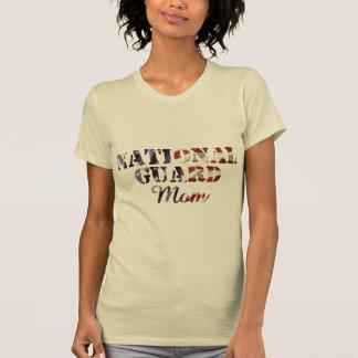 National Guard Mom American Flag T Shirt