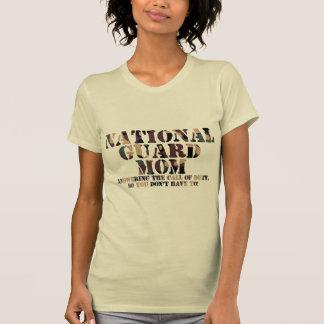 National Guard Mom Answering Call T Shirts