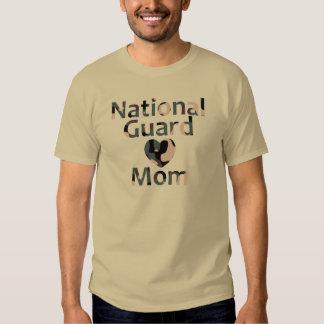 National Guard Mom Heart Camo Tshirt
