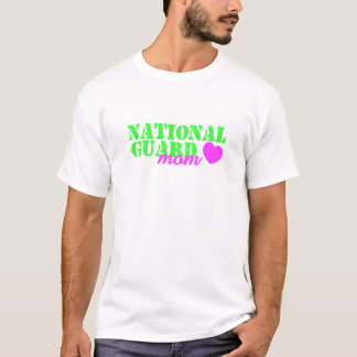 National Guard Mom Lime Green T-Shirt