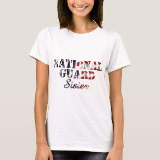 National Guard Sister American Flag T-Shirt