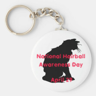 National Hairball Awareness Day Key Chains