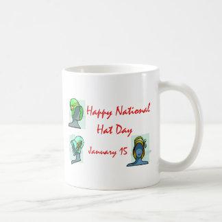 National Hat Day January 15 Basic White Mug