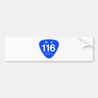 National highway 116 line - national highway mark bumper stickers