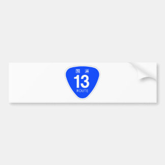 National highway 13 line - national highway sign bumper sticker