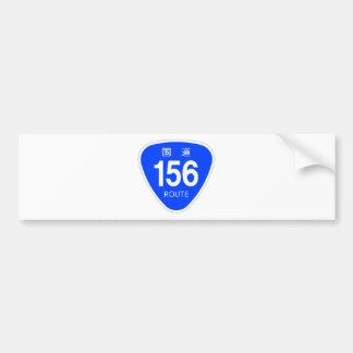 National highway 156 line - national highway mark bumper sticker