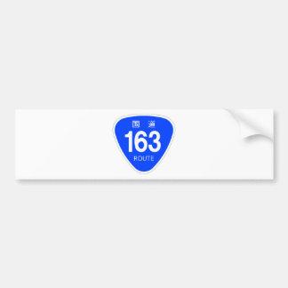 National highway 163 line - national highway sign bumper sticker