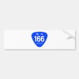 National highway 166 line - national highway sign bumper sticker