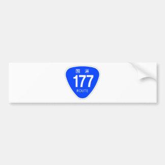 National highway 177 line - national highway sign bumper sticker