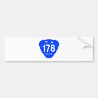 National highway 178 line - national highway sign bumper sticker