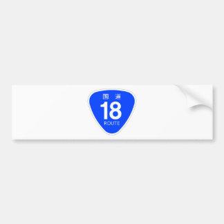 National highway 18 line - national highway sign bumper sticker