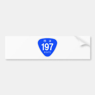National highway 197 line - national highway sign bumper stickers
