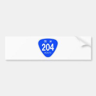 National highway 204 line - national highway sign bumper sticker