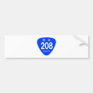 National highway 208 line - national highway sign bumper sticker