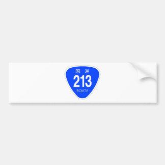 National highway 213 line - national highway sign bumper sticker