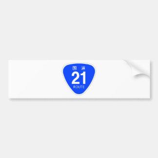 National highway 21 line - national highway sign bumper sticker