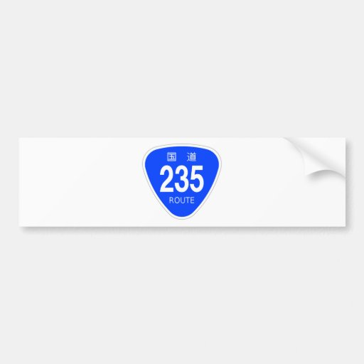 National highway 235 line - national highway sign bumper stickers