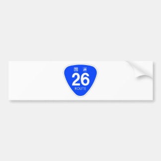 National highway 26 line - national highway sign bumper sticker