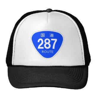National highway 287 line - national highway sign mesh hat