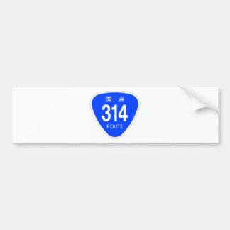 National highway 314 line - national highway sign bumper sticker