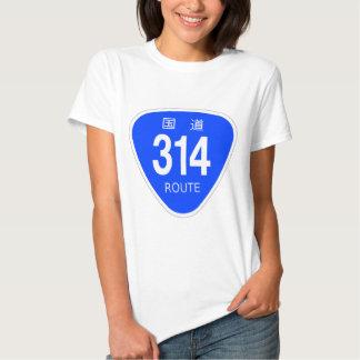 National highway 314 line - national highway sign t shirt