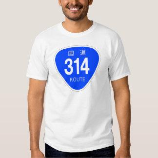 National highway 314 line - national highway sign t-shirt