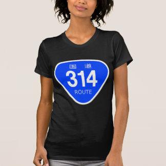 National highway 314 line - national highway sign tee shirt
