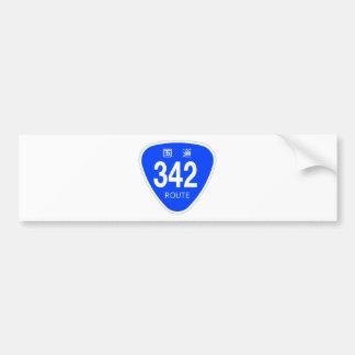 National highway 342 line - national highway sign bumper sticker