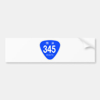 National highway 345 line - national highway sign bumper stickers