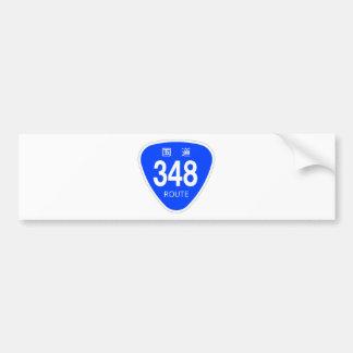 National highway 348 line - national highway sign bumper sticker