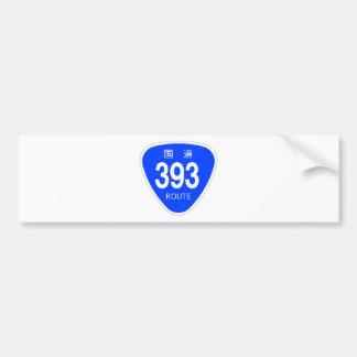 National highway 393 line - national highway sign bumper sticker
