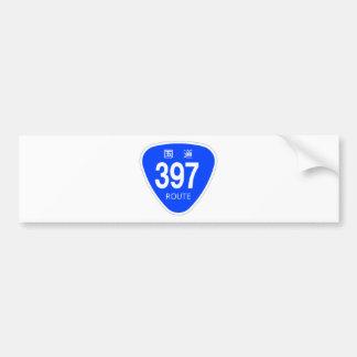 National highway 397 line - national highway mark bumper sticker
