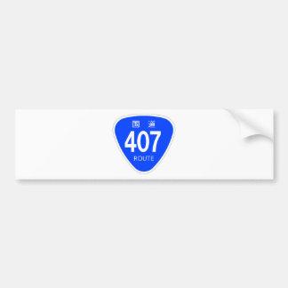 National highway 407 line - national highway sign bumper sticker