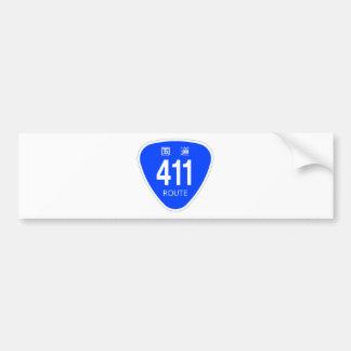 National highway 411 line - national highway sign bumper sticker