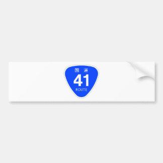 National highway 41 line - national highway sign bumper sticker