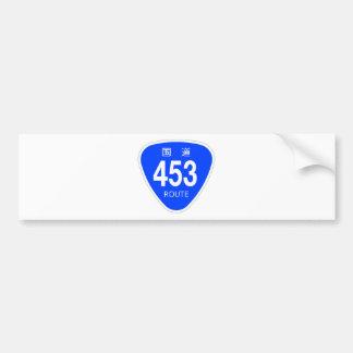 National highway 453 line - national highway sign bumper sticker