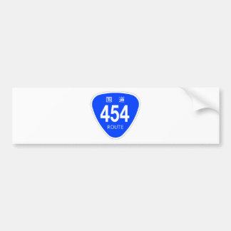 National highway 454 line - national highway sign bumper sticker