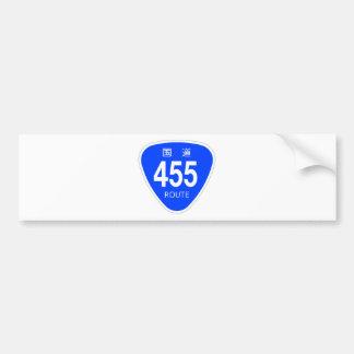 National highway 455 line - national highway sign bumper sticker