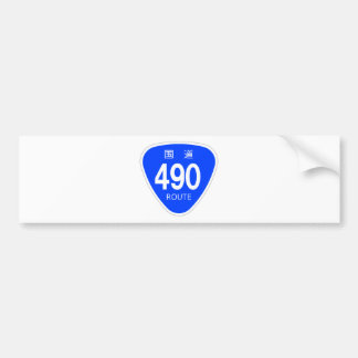 National highway 490 line - national highway sign bumper stickers