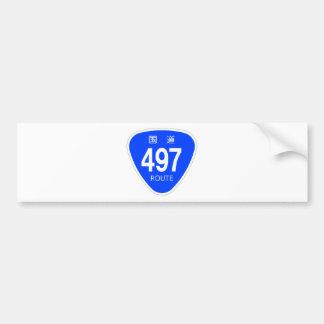 National highway 497 line - national highway sign bumper sticker