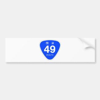 National highway 49 line - national highway sign bumper sticker