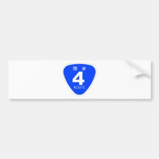 National highway 4 line - sign bumper sticker