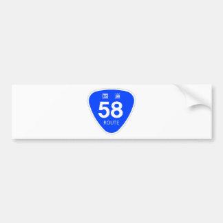 National highway 58 line - national highway sign bumper sticker