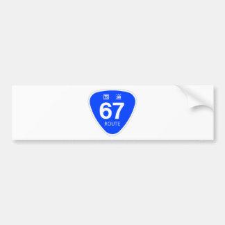 National highway 67 line - national highway sign bumper sticker
