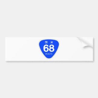 National highway 68 line - national highway sign bumper sticker
