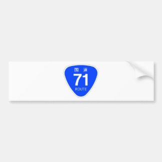 National highway 71 line - national highway sign bumper sticker