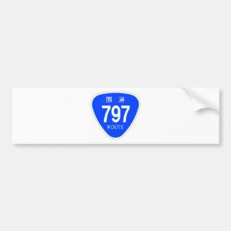 National highway 797 line - national highway sign bumper sticker