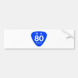 National highway 80 line - national highway sign bumper sticker