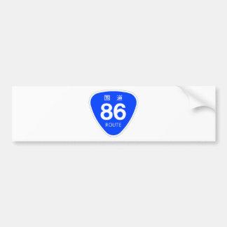 National highway 86 line - national highway sign bumper sticker