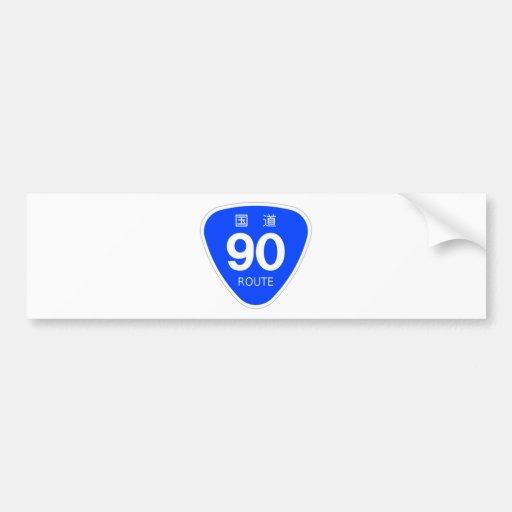 National highway 90 line - national highway sign bumper sticker